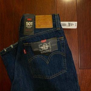 "Levi's 501 Crop Jeans ""Market Grammar"""